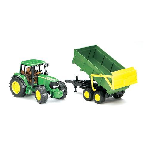 Трактор John Deere 6920 с прицепом (3)
