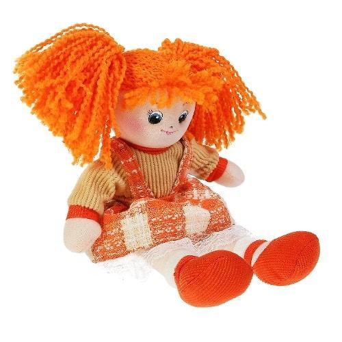 Кукла мягкая Апельсинка в клетчатом платье 30см (7)