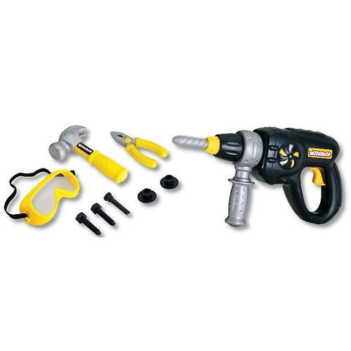 Набор инструментов Keenway (электродрель, плоскогубцы, винты, защитная маска и молоток) (4)