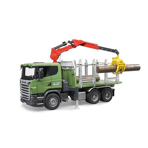 """Лесовоз Scania с портативным краном и брёвнами (подходит модуль со звуком и светом """"H"""") (3)"""