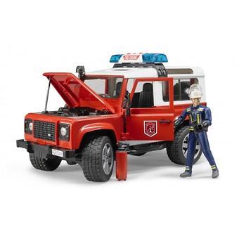 Внедорожник Land Rover Defender Station Wagon Пожарная с фигуркой - Minim