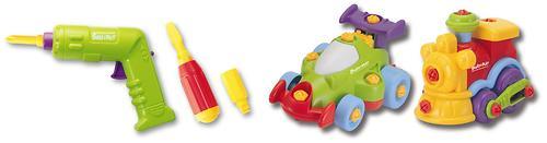 Набор Keenway Build&Play машина+паровозик (6)