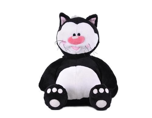 Кот Котя черный сидячий 23см (3)