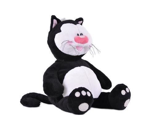 Кот Котя черный сидячий 23см (4)