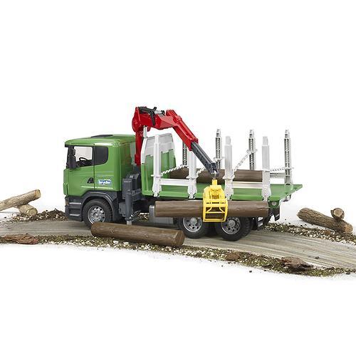 """Лесовоз Scania с портативным краном и брёвнами (подходит модуль со звуком и светом """"H"""") (4)"""