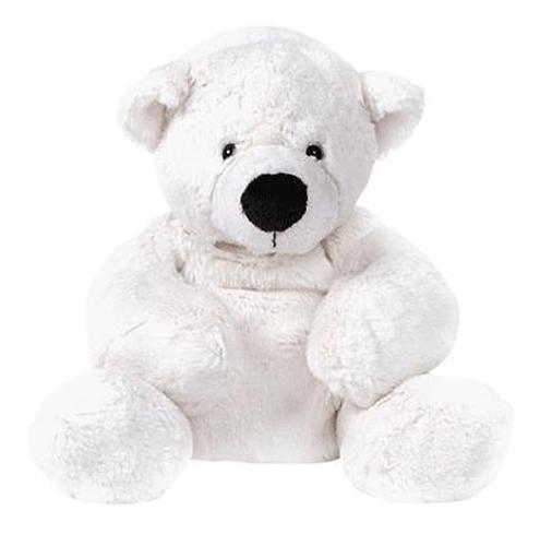 Медведь белый лежачий 43 см (5)