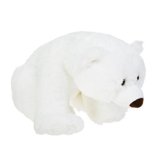 Медведь белый лежачий 43 см (7)