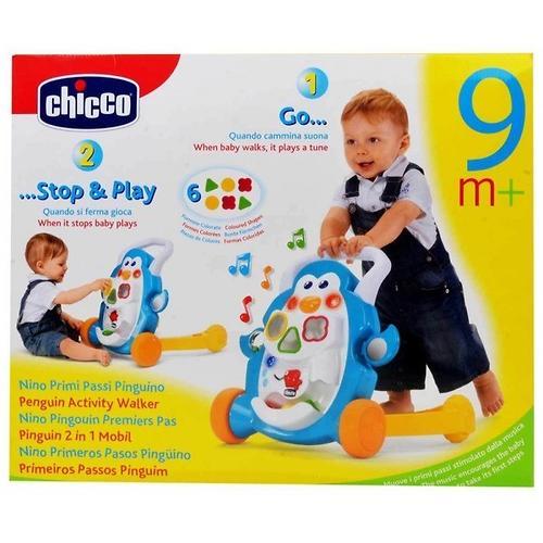 Игровой центр-ходунки Сhicco Детские шажочки Пингвин 9 мес+ (15)
