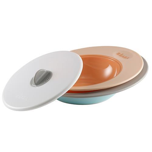 Набор тарелок Beaba Ellipse Nude/Blue (1)