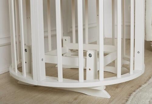 Кроватка-трансформер Incanto Mimi овальная c маятником поперечного качания 7в1 Слоновая кость (9)