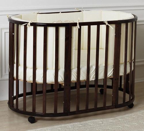Кроватка-трансформер Incanto Mimi овальная 7в1 Венге (5)