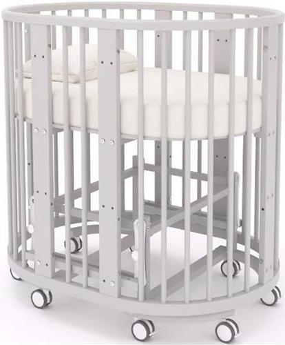 Кроватка-трансформер Incanto Mimi овальная 7в1 Серая элит (11)