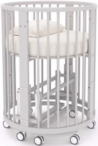 Кроватка-трансформер Incanto Mimi овальная 7в1 Серая элит (12)
