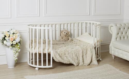 Кроватка-трансформер Incanto Mimi овальная 7в1 Венге (7)