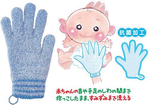 Мочалка-рукавица для мытья ребенка Chu Chu Baby голубая для папы (4)
