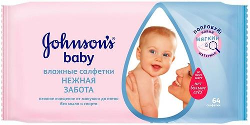 Салфетки Johnson's baby Мягкое Очищение 64 шт (1)