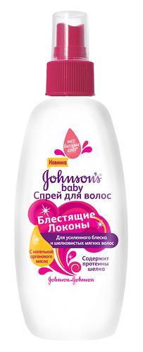 Набор Шампунь для волос Johnson's baby Блестящие локоны 300мл + спрей Блестящие локоны 200мл (6)