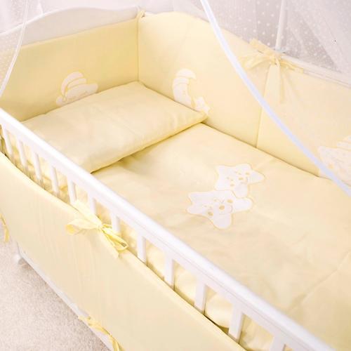 Комплект в кроватку Крошкин дом 7 предметов Спать пора Персиковый (4)