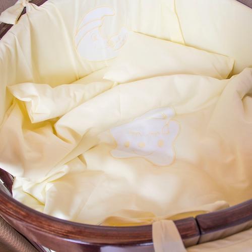 Комплект в кроватку Крошкин дом Спать пора 11 предметов Розовый (6)