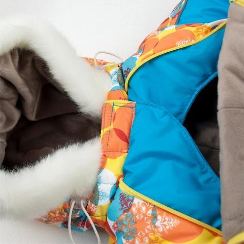 Комбинезон-трансформер Крошкин дом зимний Зимнее утро с варежками 185-3 ShV р.20-22 (62-74 см) (8)