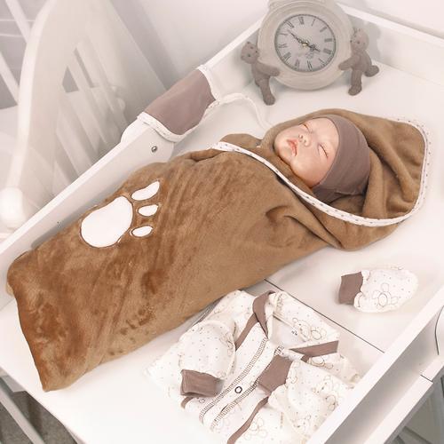 Комплект на выписку Крошкин дом Шоколадный мишка 10 предметов 10/10(ШМ)-7 ТИ (9)
