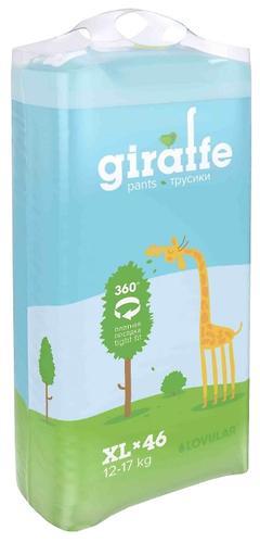 Подгузники-трусики Lovular Giraffe ХL 12-17 кг 46 шт/уп (5)