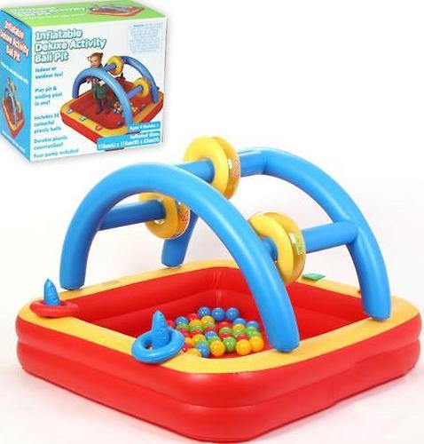 Уценка! Игровой надувной центр Madd Kids Плот с шариками (1)
