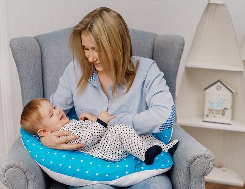 Подушка для беременных Mama's Helper наполнитель полистирол (шарики) бело-черная (21)