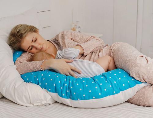Подушка для беременных Mama's Helper наполнитель полистирол (шарики) бело-черная (22)