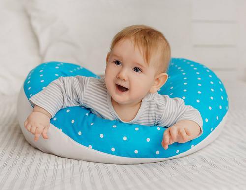 Подушка для беременных Roxy Kids Голубая (полистирол/холлофайбер наполнитель) (23)