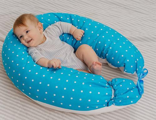 Подушка для беременных Mama's Helper наполнитель полистирол (шарики) бело-черная (23)