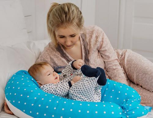 Подушка для беременных Roxy Kids Голубая (полистирол/холлофайбер наполнитель) (20)