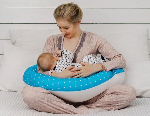 Подушка для беременных Mama's Helper наполнитель полистирол (шарики) бело-черная (20)