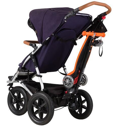 Самокат-подножка для второго ребенка 2в1 Mountain Buggy Freerider Оранжевый (11)