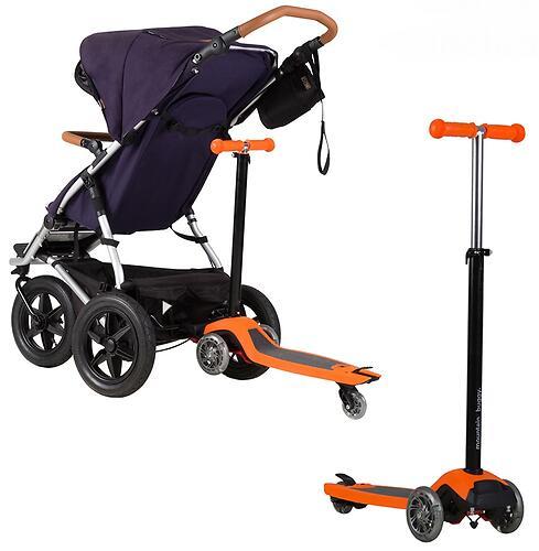 Самокат-подножка для второго ребенка 2в1 Mountain Buggy Freerider Оранжевый (8)