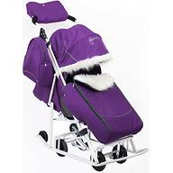 Санки-коляска Мое детство Снеговик Фиолетовый