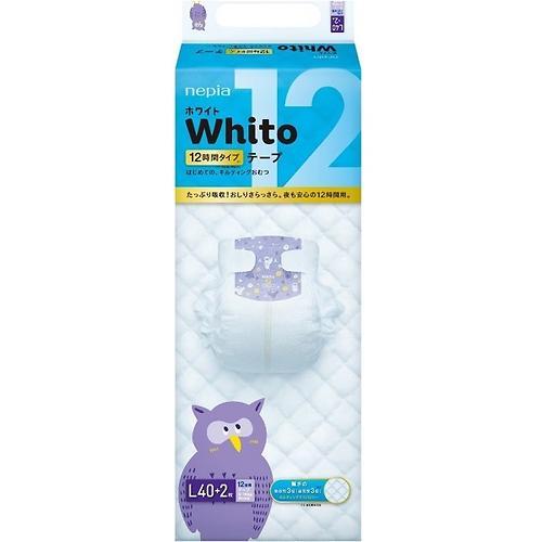 Подгузники Whito 12 часов L 9-14 кг 40 шт (3)