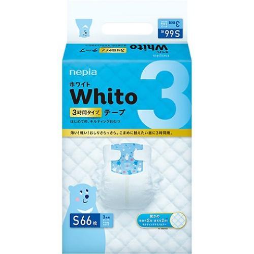 Подгузники Whito 3 часа S 4-8 кг 66 шт (3)