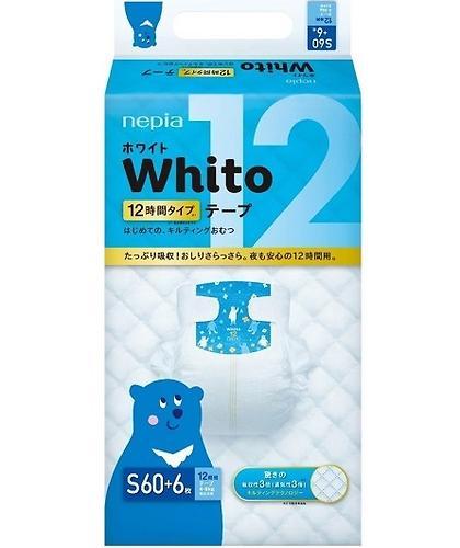 Подгузники Whito 12 часов S 4-8 кг 60 шт (3)