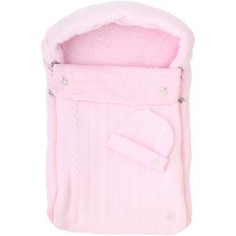 Комплект на выписку 2в1 Leader Kids конверт и шапочка Косичка Розовый - Minim