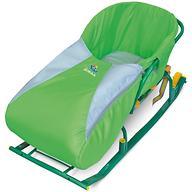 Сиденье мягкое на санки с чехлом для ног зеленое
