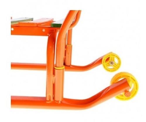 Санки детские Тимка 3 плюс оранжевые (5)