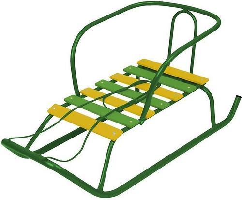 Санки детские Ветерок 1 зеленый (3)