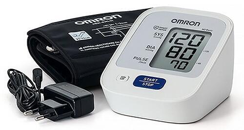 Тонометр Omron M2 Basic (манжета 22-42 см, адаптер) (5)