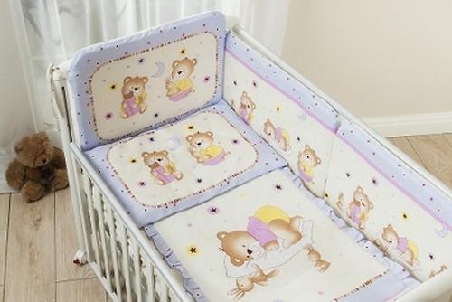 Постельное белье Perina Ника Мишка на подушке лиловый 7 предметов (5)