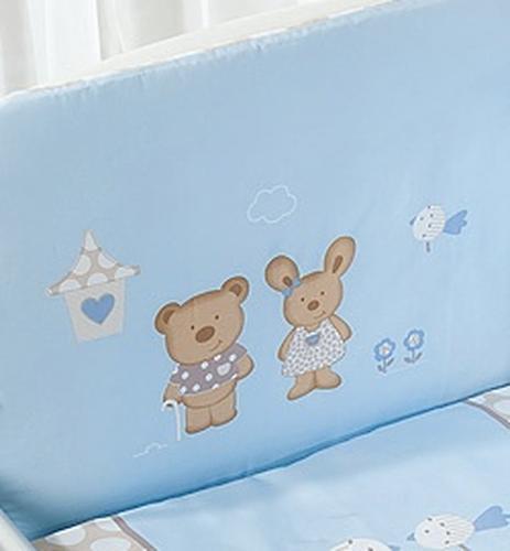 Постельное белье Perina Венеция Лапушки голубые 3 предмета (6)