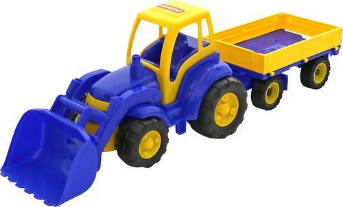 Трактор Полесье Чемпион с ковшом и прицепом (4)