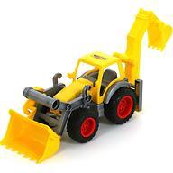 Трактор-погрузчик Полесье с ковшом КонсТрак в коробке