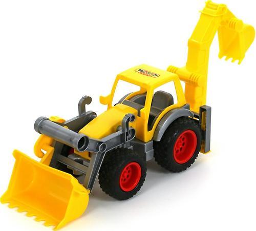 Трактор-погрузчик Полесье с ковшом КонсТрак в коробке (5)