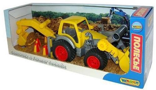 Трактор-погрузчик Полесье с ковшом КонсТрак в коробке (7)